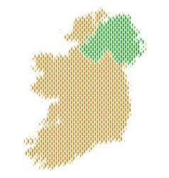 Ireland countries map population demographics vector