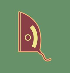 Iron sign cordovan icon and mellow vector