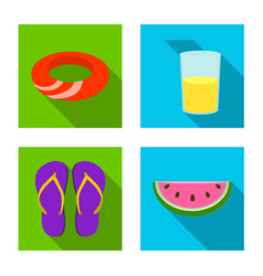 Isolated object of equipment and swimming icon vector