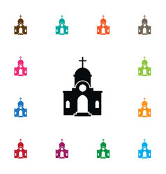 Isolated structure icon christian element vector