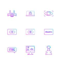 Kaabaa bug eye master card card message graph vector