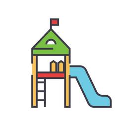 kids playground equipment children house vector image