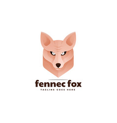 Logo fennec fox gradient colorful style vector