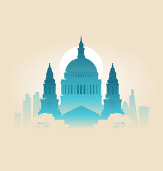 london st pauls cathedral west facade outlines vector image