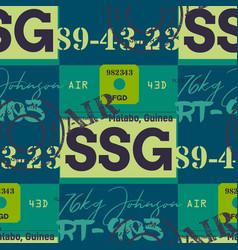 malabo airport tag seamless pattern vector image