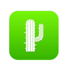Mexican cactus icon digital green vector
