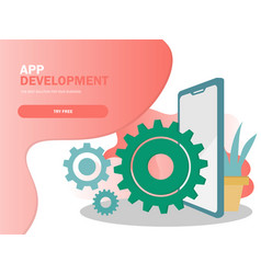 mobile application development vector image