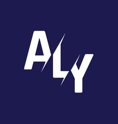 Monogram letters initial logo design aly vector
