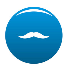 Neat mustache icon blue vector
