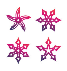 Ninja throwing stars shurikens vector