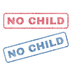 No child textile stamps vector