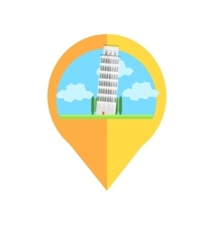 On-line Map Marker With Pisa Tower vector image