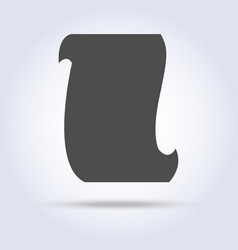 paper scroll list gray icon vector image
