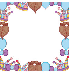 party boothprops frame cartoons vector image