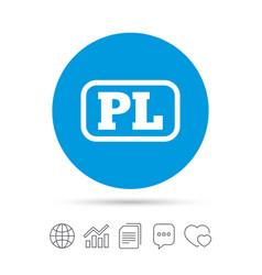 polish language sign icon pl translation vector image