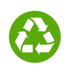 recycle icon flat style isolated on white vector image