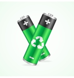 Recycling Concept Battery vector image