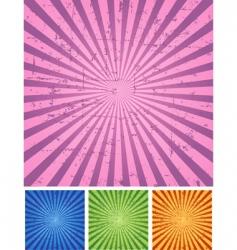 Retro radial background vector