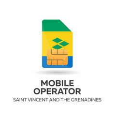 Saint vincent and the grenadines mobile operator vector