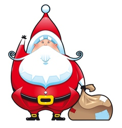 Santa Claus with bag vector