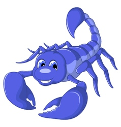 scorpion cartoon for you design vector image