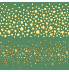 Seamless scattered circles stars rhinestones vector