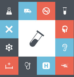 Set of 13 editable clinic icons includes symbols vector