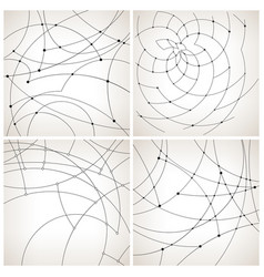 Set of monochrome geometric backgrounds vector