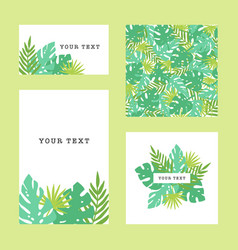 set of tropical template goods vector image