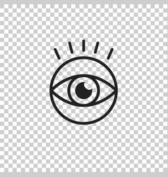 Simple eye icon eyesight pictogram in flat style vector