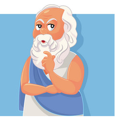 socrates classical greek philosopher cartoon vector image