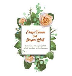 square floral design frame garden flower creamy vector image