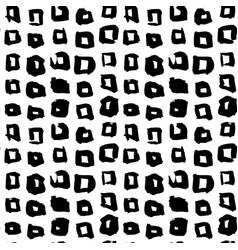 Square hand drawn seamless pattern vector