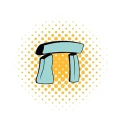 Stonehenge icon in comics style vector