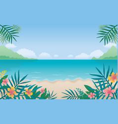 summer beach sea or ocean background vector image