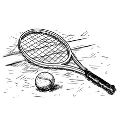 Tennis Racket Drawing Vector Images Over 680