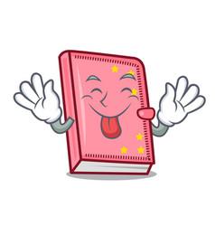 Tongue out diary mascot cartoon style vector