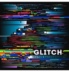Tv glitch digital background vector