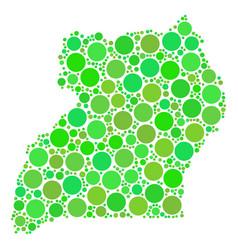 uganda map mosaic of dots vector image
