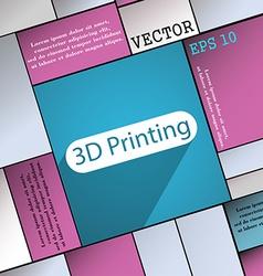 3d Printing icon symbol Flat modern web design vector image