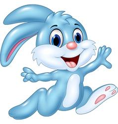 Cartoon happy bunny running isolated vector image