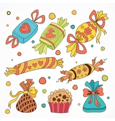 collection of sweets vector image vector image