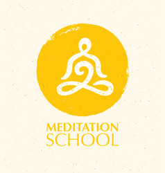 meditation school creative concept on vector image