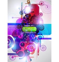 Purple Techno Background vector image vector image