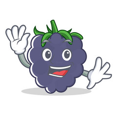 waving blackberry character cartoon style vector image