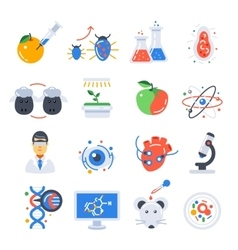 Biotechnology Colored Icon Set vector image