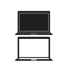 computer notebook icon laptop flat vector image