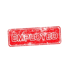 Employed red rubber stamp isolated vector
