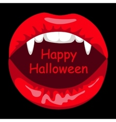 Open mouth of vampire woman vector image