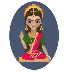 Parvati deity vector